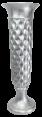 Vaso Decorativo Resina Cor Silver Taça 32x100,5cm - 789