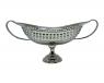 centro de mesa niquelado oval 23x51x25cm - 844