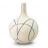 Vaso Decorativo Nakine Cerâmica Bege 21X17X17