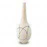 Vaso Decorativo Cerâmica Bege 37x15cm