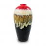 Vaso Decorativo Cerâmica Vermelho 26X13X13