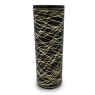 Vaso Decorativo Nakine Cerâmica Preto  32X13X13