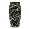 Vaso Decorativo Cerâmica Preto 26X13cm