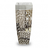 Vaso Decorativo Resina Mosaico Espelhos 91X34X34cm - 037