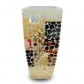 Vaso Decorativo  Resina Mosaico Espelhos 71x31x31
