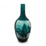 Vaso Decorativo Nakine Vidro Floresta Verde 41X16X16