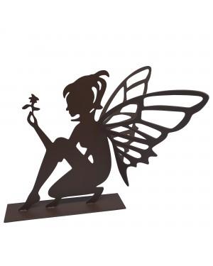 Estatueta Decorativa em Ferro Fada 24cm