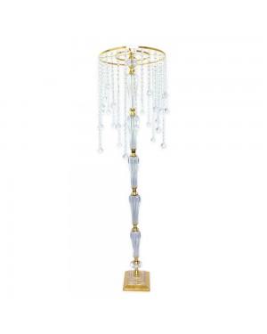 Suporte de Mesa Redondo Dourado/Cristal K9 38x150cm - 443