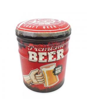 Banqueta/ Baú Beer Nakine 25x25x30cm