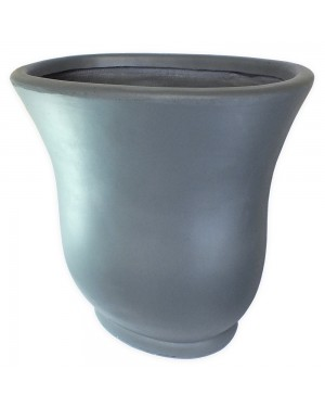 Vaso Decorativo Composto Mineral Cinza, cor escuro Oval 80,5X50,5X81cm