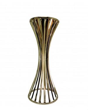 SUPORTE PARA FLORES BRONZE COR GOLD 32x32x78cm