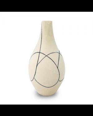 Vaso Decorativo Cerâmica Bege 31X17cm