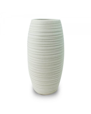 Vaso Decorativo Nakine Cerâmica Branco 26X13X13