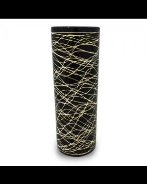 Vaso Decorativo Cerâmica Preto 32,5x11,2cm