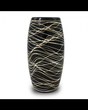 Vaso Decorativo Nakine Cerâmica Preto 26X13X13