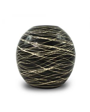 Vaso Decorativo Nakine Cerâmica Preto 17X18X18
