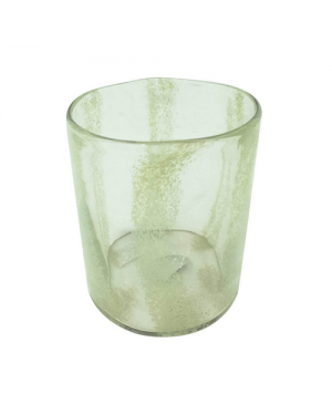 Vaso Decorativo Nakine Vidro Verde Transparente  18X18X20