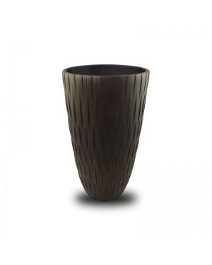 Vaso de Composto Mineral Marrom Cilíndrico 45x23cm - 241