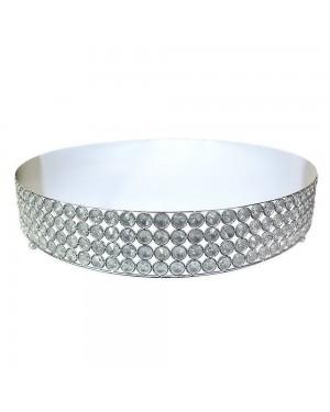 Suporte Para Doces Silver/Led Cristal K9 Nakine 55x10cm