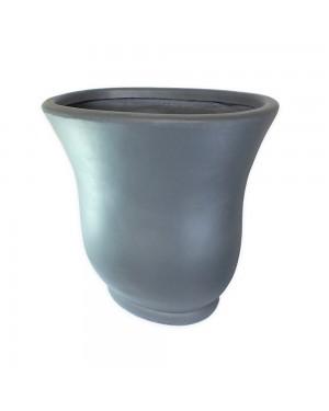 Vaso Decorativo Composto Mineral, cor Cinza escuro Oval 59,5X37X60cm