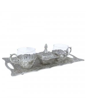 Kit Café 4 peças banhado a prata - 591