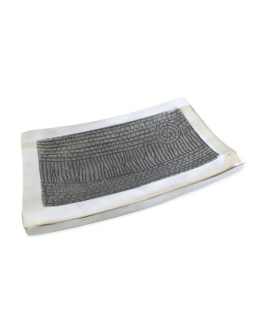 Petisqueira Retangular Nakine Aluminio Black Copper 31x21x5cm