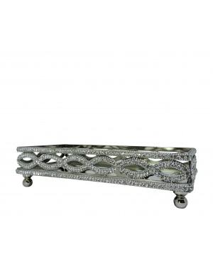 Bandeja Retangular Alumínio 28,5x15,5x7,6cm