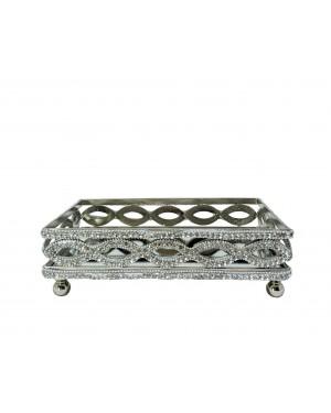 Bandeja Retangular Alumínio 23x15,5x7,6cm