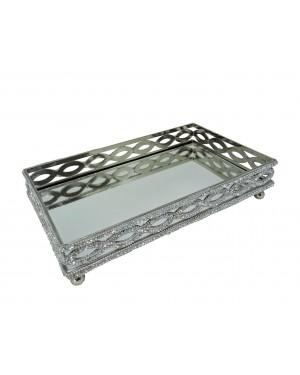 Bandeja Retangular Alumínio 33,5x20x7,6cm