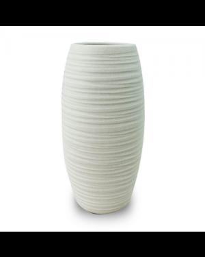 Vaso Decorativo Cerâmica Branco 26x13cm