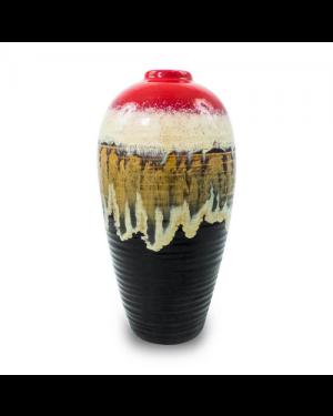 Vaso Decorativo Nakine Cerâmica Vermelho  26X13X13
