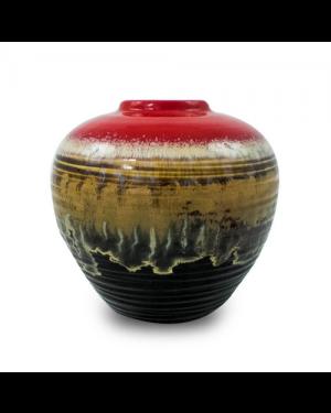 Vaso Decorativo Cerâmica Vermelho 17x18cm