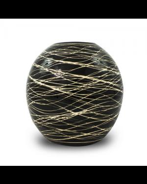 Vaso Decorativo Cerâmica Preto 17x18cm