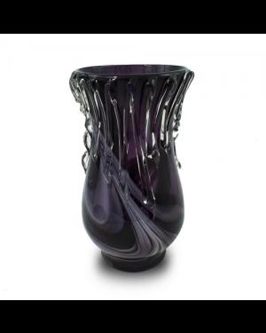 Vaso Decorativo Vidro Gotas de Vidro 34X17cm