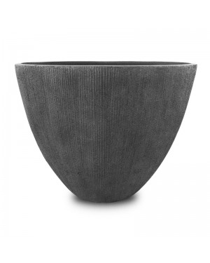 Vaso de Composto Mineral Cinza Oval 50x60x34cm - 224
