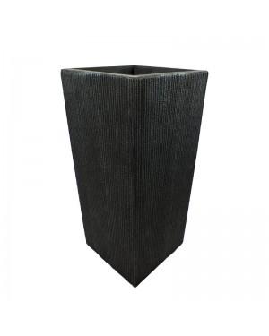 Vaso Decorativo Nakine de Composto Mineral Preto Ret. 33x70cm