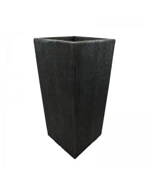 Vaso Decorativo Nakine de Composto Mineral Preto Ret. 26x60cm