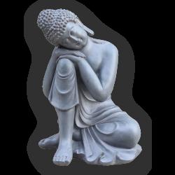 Estatueta Decorativa, de Composto De Mineral cor Chumbo 46X44,5X65cm